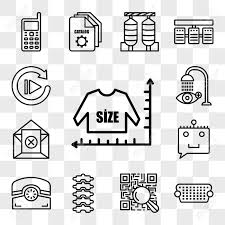 Set Of 13 Transparent Editable Icons Such As Size Chart Vga