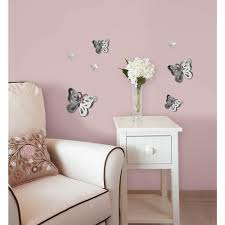 3d mirror art butterfly wall decal on 3d mirror wall art stickers with 13 3 in x 14 25 in 3d mirror art butterfly wall decal ma99951