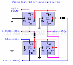 starter interrupt relay diagrams passive starter kill horn relay diagram