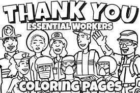Our interactive activities are interesting and help children develop important skills. Essential Workers Coloring Pages Water Education Group