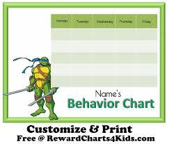 100 Good Behavior Chart Template For Kids Middle School