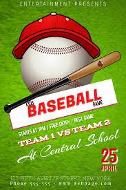 Free Baseball Flyer Template Kids Children Baseball Game Match Flyer Template Postermywall