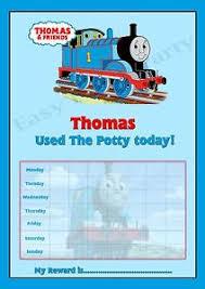 Thomas The Tank Engine Potty Training Reward Chart Free Stickers