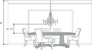 chandelier hieght correct height measurements to size a dining room chandelier chandelier