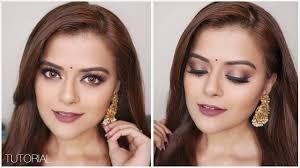 navratri makeup look 2018 indian festive glam grwm