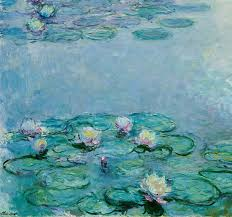 water lilies painting claude monet