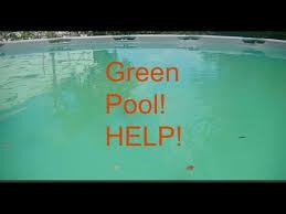 Grean pool alertHelp Intex above ground pool YouTube