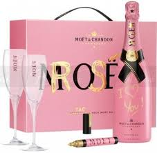 moët chandon chagne awesome pink gift set