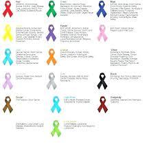 Support Ribbon Color Chart Printable Cancer Ribbon Color Chart Bedowntowndaytona Com