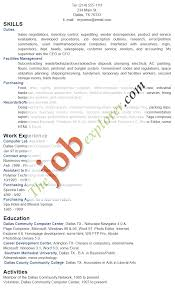 Resume Functional Resume Sample