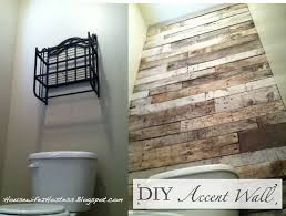 pallet wood accent wall bathroom. i really wanted to add a little something my guest bathroom so decided to. pallet accent wallwood wood wall