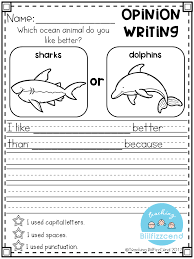 Writing Prompt: Opinion Writing for first grade. This is also ...