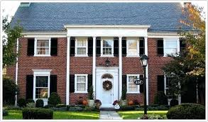 house with black shutters red brick house black shutters penfriends for with designs 1 gray house