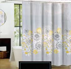 cynthia rowley eloise fabric shower curtain yellow gray paisley on white in on