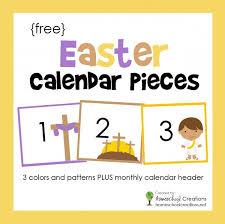 Free Printable Pocket Chart Cards Easter Pocket Chart Calendar Pieces Free Printable