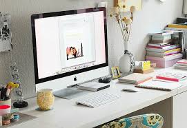 office desk work. Books Decor Desk Desktop Home Interior Design Mac Office Work