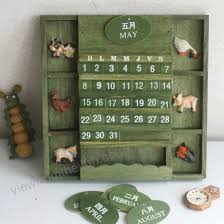 country style home decorative wall calendar wooden craft universal calendar 2019 perpetual calendar wooden hanging calendar