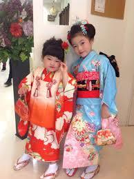 府中七五三かわいい日本髪5歳男の子ママと着物姉弟七五三