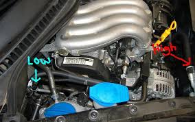 where is the air conditioner low pressure service port located on 2002 vw jetta ac compressor not working at 2001 Vw Jetta Ac Diagram