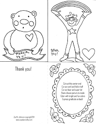 Free Kids Color Pages Thank You Cards Coloring Page Cards At Thank