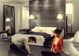 best fifty shades of grey images shades  christian kneeling at ana