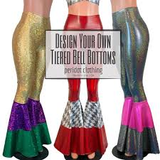 Create Your Own Pants Design Your Own Custom Tiered Bell Bottom Flares Boho Pants Rave Pants Festival Clothing