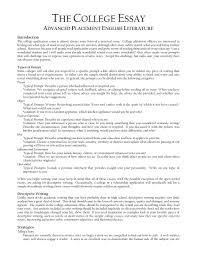 Example Of Literature Essays Sample Literature Essay Outline Character Analysis Essay