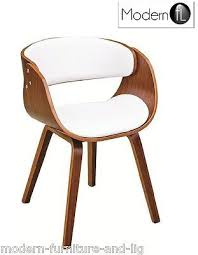 white modern dining chairs. MODERN WALNUT AND WHITE DINING CHAIR, CURVED WOOD White Modern Dining Chairs