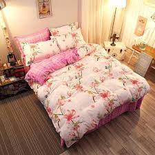 new bedding sets safflower warm birds polyester cotton soft bed sheets quilt duvet cover for winter india