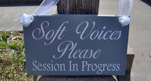 Session In Progress Door Sign Soft Voices Please Session In Progress Wood Vinyl Sign Door