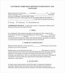 Template Of A Contract Between Two Parties Letter Of Agreement Template Between Two Parties Free Sample