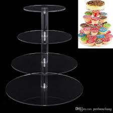 Acrylic Tiered Display Stands 100 Tier Acrylic Cake Stand Round Cup Cupcake Holder Wedding 45