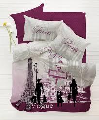 4 piece paris eiffel tower themed bed set