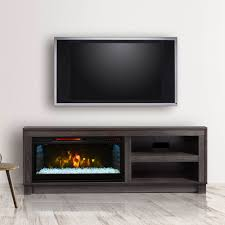 cameron electric fireplace tv stand in grey  csmmgry