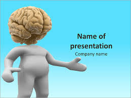 The Image Of The Human Brain Powerpoint Template, Backgrounds ...