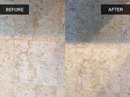 Travertine Tile Kitchen Floor Kitchen Travertine Tile Cleaning Before And After Healthy Home