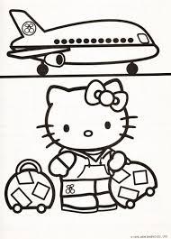 Kleurplaat Hello Kitty Vliegtuig Mandy Color Hello Kitty