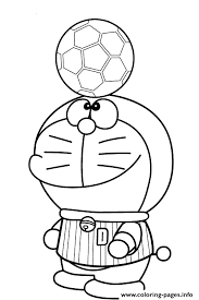 Small Picture doraemon playing soccer s89b8 Coloring pages Printable