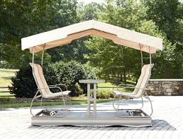 patio swing chair with canopy home decor by reisa hampton bay 2 person metal outdoor