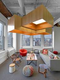 office seating area. Inside Hudson Rouges Inspiring, New York City Ad Agency Office Space, Design, Interiors Seating Area