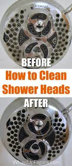 how to clean shower head in your bathroom with a vinegar soak cleaning tip