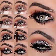 sparkly silver smoky eye makeup tutorial