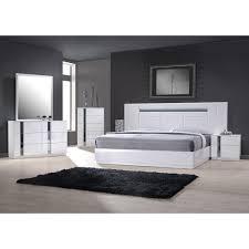 Modern Customizable Bedroom Set Modern Queen Platform Bed  Drawer - Palladian bedroom set