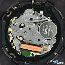 Citizen Watch Battery Replacement Chart Citizen Caliber E110m Watch Movement Caliber Corner