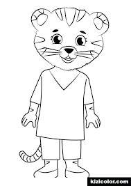 Coloring Pages Daniel Tiger Coloring Page Book With Of Valentine