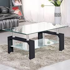 virrea glass coffee table shelf chrome