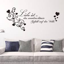 hot german liebe love es wall stickers decorations vinyl pvc living room bedroom for kids room home decor wedding gift decals for home decorating