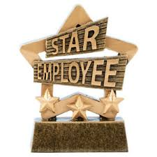 Employee Of The Month Trophy Details About Star Employee Of The Month Trophy Work Award Free Engraving 8cm A1901 Bx 12