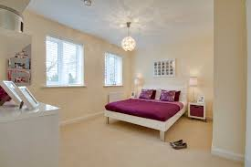 Show Home Bedroom Purple Duvet Show Home At Lymington In Abbotswood Bovis Homes