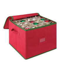 Red Christmas Ornament Storage Box Whitmor   Zulily